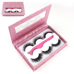 Stock Packaging Pink Glitter 3 in 1 Magnetic Box P-3IN1