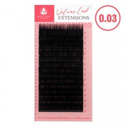 Acelashes® 0.03 Ultra-Light Mega Cashmere Volume Mink Eyelash Extensions LA03