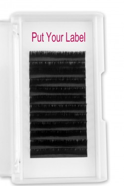 0.07MM Fan Eyelash Extensions D Curl  12mm