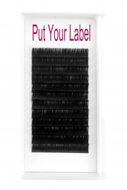 0.12MM Flat Eyelash Extensions B Curl 12mm