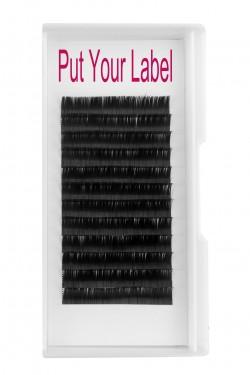 0.12MM Flat Eyelash Extensions Suppliers D Curl 12mm