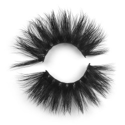 25mm 5D long 3D Mink Lashes With V Shape Wisipy Lashes 5D06