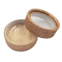Stock Rose Gold Glitter Luxury Round Packaging Boxes ACE-C02
