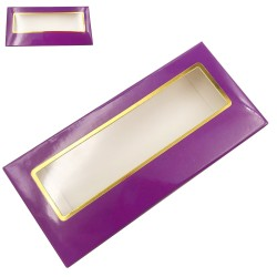 Stock Packaging Paper Box Purple With Gold Border ACE-P24