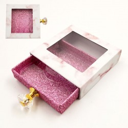 Stock Pink Marble Packaging Bxoes With Handle ACE-S02