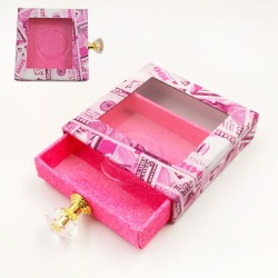 Stock Luxury Pink Dollar Packaging Boxes with Handle ACE-S03