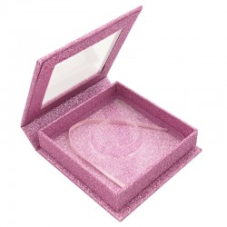 Stock Square Magnetic Pink Glitter Boxes ACE-S05