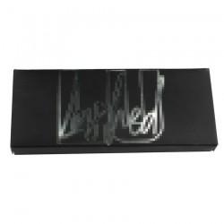 black custom papereyelash packing with UV logo CPB19