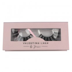 Custom beauty pink special window magnetic eyelash packaging with your logo CMB085