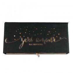 Custom Black Sliding Magnetic Eyelash pacakging with hot stamped logo CMB108