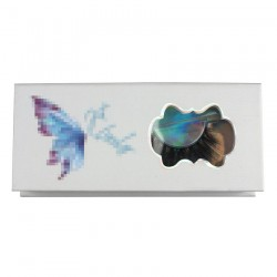 Custom butterfly white without gillter  window magnetic eyelash packaging with your logo CMB089