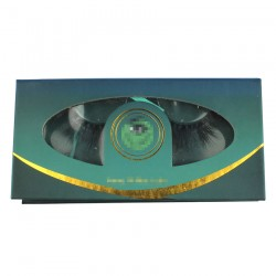 Custom green&gold trim special window magnetic eyelash packaging with  your logo CMB093