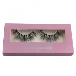 custom rectangle purple  eyelash packing CPB02