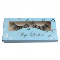 customer eyelash packing in light blue with sliver star on it CPB16