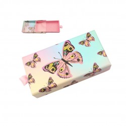 Stock Packaging Light Pink Butterfly with PVC Window ACE-R09