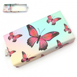 New Pink Butterfly Holographic Inside With PVC Window ACE-R11