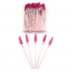 Stock Eyelashes Brushes Rose Pink Color 50pcs/ Pack AC-B4