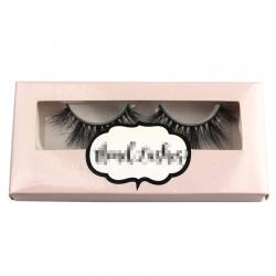 light pink custom eyelash packing with printing logo CPB07