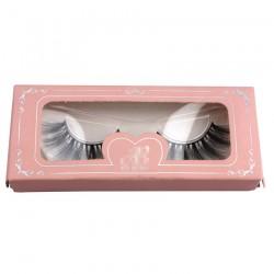 light pink paper eyelash packing custom with logo CPB29