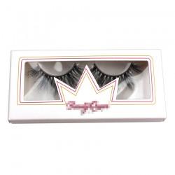 logo print on the custom white  packing for eyelash CPB31