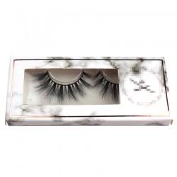 marble custom eyelash packing with gold trim CPB22