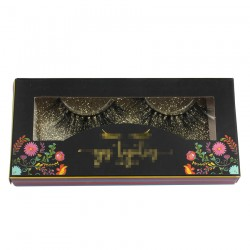 paper eyelash packing custom with flower under the window CPB24