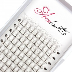 Quality pre fanned 5D russian lashes D Curl 14mm