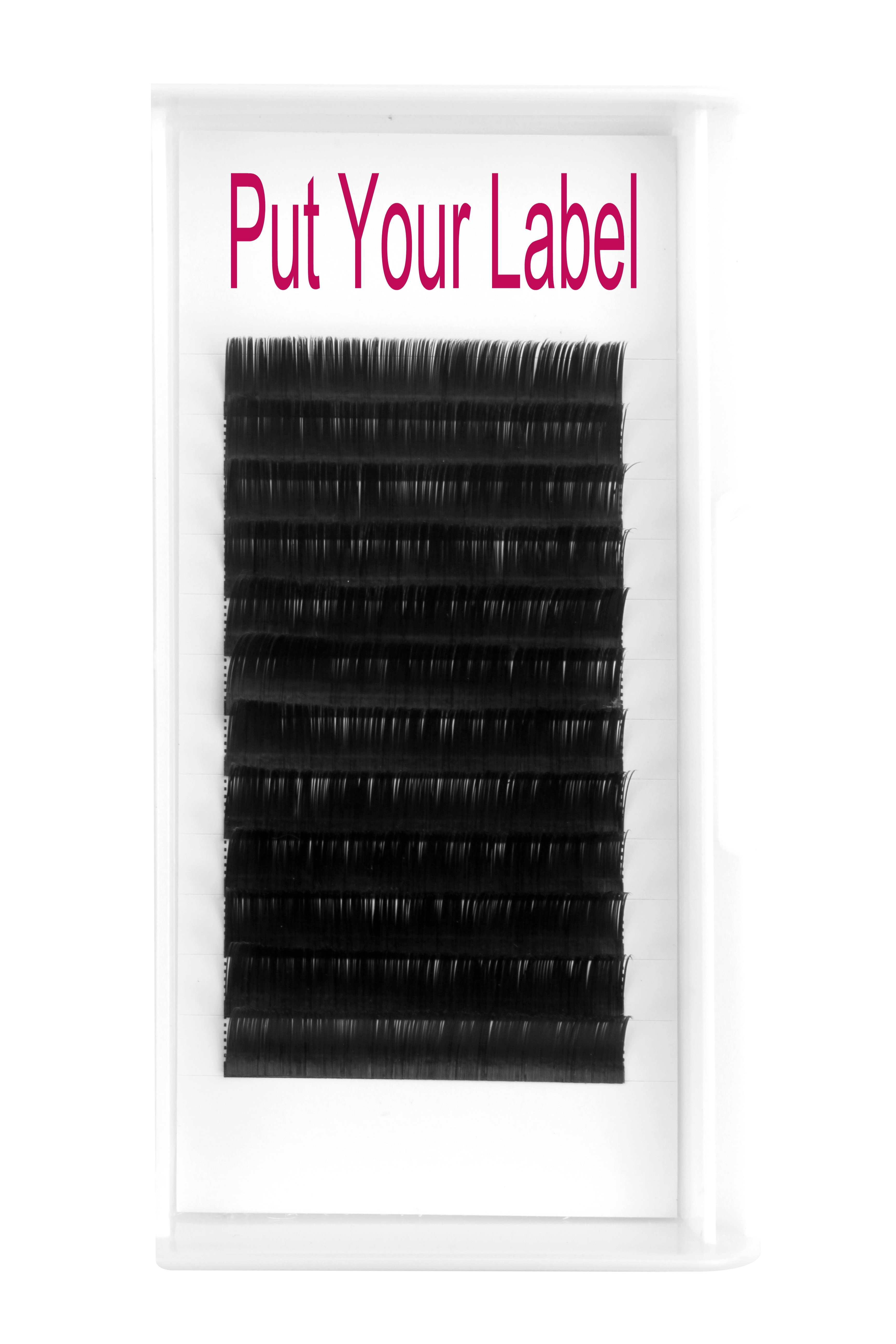 0 12MM Flat Eyelash Extensions B Curl 12mm