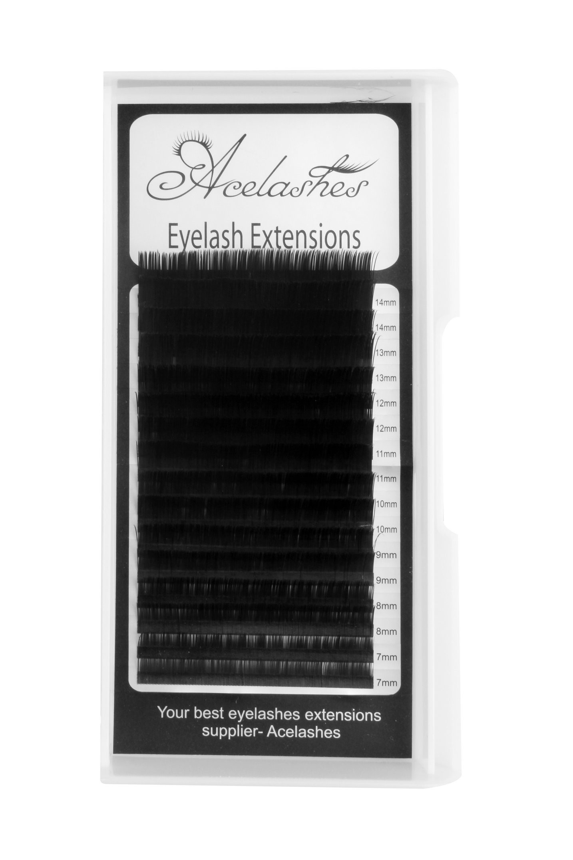 0 12MM Flat Eyelash Extensions Manufacturer B Curl Mix Length