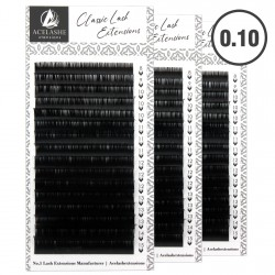 Acelashes®  0.10 Wholesale Classic Lash Extensions Available Private Label WCL10