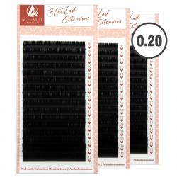 Acelashes® 0.20 Wholesale Lashes Trays Super Flat Lash Extension Manufacturer WFL020