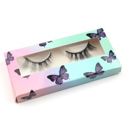 Stock Packaging Purple Butterfly Paper Box ACE-P31