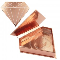 Acelashes Stock Piano Rose Gold Magnetic Diamond Boxes ACE-D03