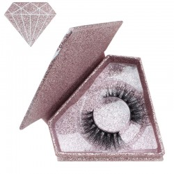 Acelashes Stock Pink Gold Glitter Magnetic Diamond Boxes ACE-D04