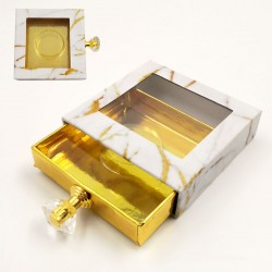 Stock Gold Marble Packaging Boxes With Handle ACE-S04