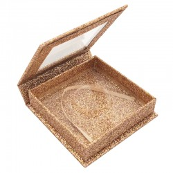 Stock Square Magnetic Rose Gold Glitter Boxes ACE-S06