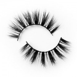 Top Level 3d mink strip lashes with private label B3D181