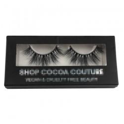 black custom eyelash packing with rectangle window CPB03