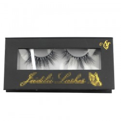 Custom black&golden butterfly decoration window magnetic eyelash packaging with hot stamping your logo CMB077