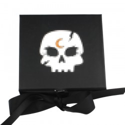 Custom Black Square eyelash packaging with print logo CMB139
