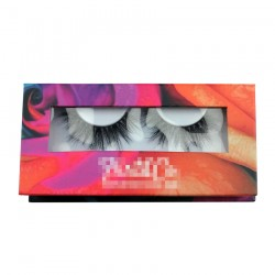 Custom colorful window magnetic eyelash packaging with your logo CMB054