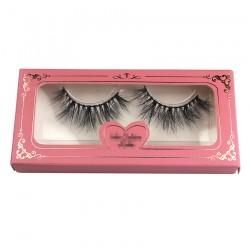 custom eyelash packing with luxry golden trim print logo CPB33