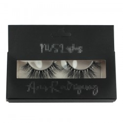 custom hang-able black  packing with sliver logo for eyelash CPB32