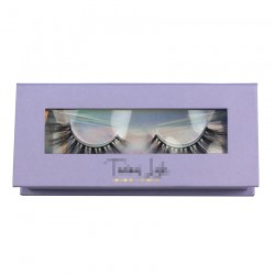 Custom high quality purple window magnetic eyelash packaging with your logo CMB060