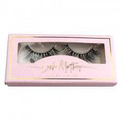 custom  paper eyelash packing with gold trim CPB21