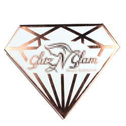 custom white and rose gold color diomand magnetic eyelash packaging with rose gold logo hot stamped CDMB01