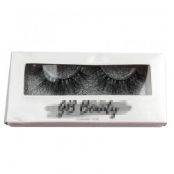 CUSTOM white paper eyelash packing with sliver glitter CPB13
