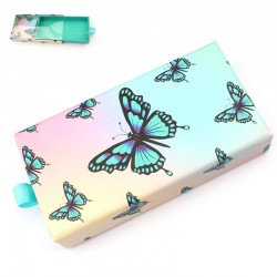 Stock Packaging Blue Butterfly With PVC Window Magnetic Boxes ACE-R10