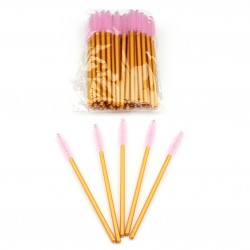 Stock Eyelashes Brushes Pink Color 50pcs/ Pack AC-B3