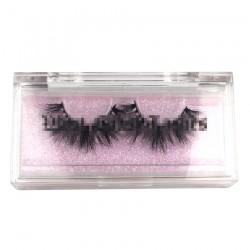 luxury custom rectangle acrylic eyelash clear packaging with logo CAB01